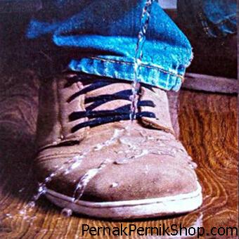 pemakaian talas water di sepatu